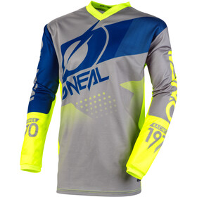 O'Neal Element Maillot de cyclisme Adolescents, factor-gray/blue/neon yellow
